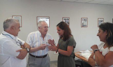 La alcaldesa de Getafe, Sara Hernández, ha visitado la empresa Tradipan