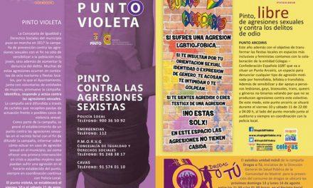 Puntos Violeta y Arcoíris y campaña Drogas o tú en las Fiestas Patronales de Pinto