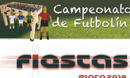 Campeonato de Futbolín Fiestas de Agosto 2018
