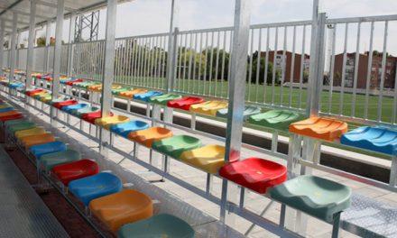 El polideportivo El Bercial cuenta con una nueva grada con capacidad para 154 espectadores