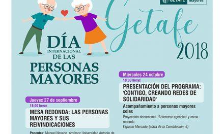 Getafe celebra el Día Internacional de las Personas Mayores el próximo lunes 1 de octubre