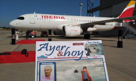 Ayer & hoy, en la presentación del avión A320 con el nombre de Getafe