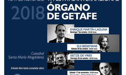 El VI Festival Internacional de Órgano de Getafe traerá nuevamente a virtuosos del género