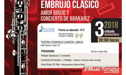 Comienza la temporada de la Orquesta Sinfónica Ciudad de Getafe con la obra 'Embrujo clásico. Amor brujo y Concierto de Aranjuez'