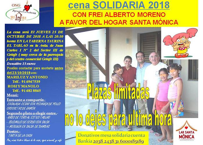 Ayudafortaleza celebra el 25 de octubre su cena solidaria