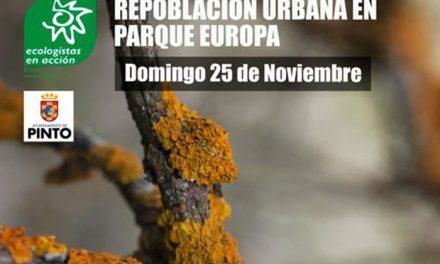 Repoblación Urbana en Parque Europa con Ecologistas en Acción