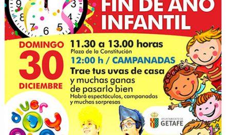Los peques de Getafe disfrutarán de la Fiesta de Fin de Año Infantil y de muchas otras actividades