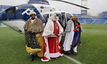 Los niños y niñas de Getafe volverán a encontrarse con los Reyes Magos de Oriente que llegarán al Coliseum en helicóptero