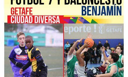 300 niños y niñas participarán en el Torneo de Reyes Fútbol 7 y baloncesto Getafe Ciudad Diversa