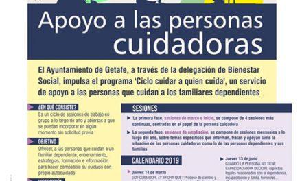 El Ayuntamiento de Getafe ofrece estrategias para las personas cuidadoras de familiares dependientes