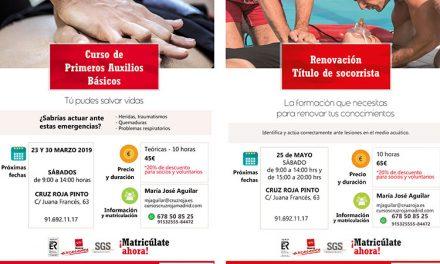 Cursos de Cruz Roja en Pinto