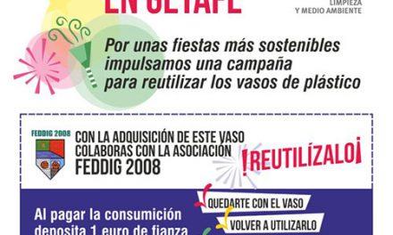 Getafe comenzará a reciclar los vasos de plástico en fiestas durante los Carnavales 2019