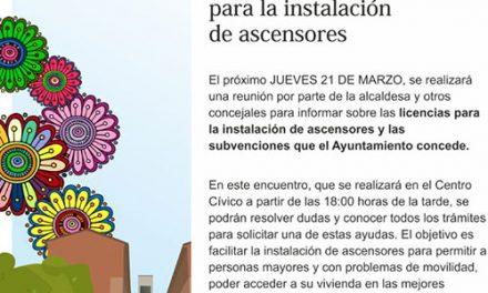 Reunión informativa en Las Margaritas para la instalación de ascensores