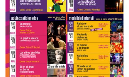 El fin de semana se podrá disfrutar de tres obras de teatro aficionado y una exposición