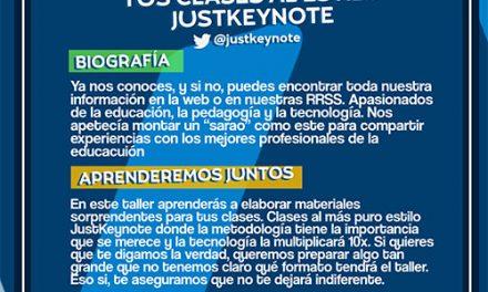 Ya te puedes inscribir en JustEDU by JustKeynote and friends