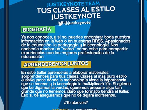 Ya te puedes inscribir en JustEDU by JustKeynote and friends