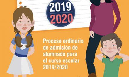 Comienza el proceso ordinario de admisión de alumnado para el curso escolar 2019/20 en los centros educativos públicos de Getafe