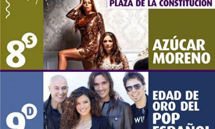 Azúcar Moreno, La Edad de Oro del Pop Español, Baby Rock y Tenoríssimus, últimas confirmaciones para las Fiestas Patronales de Getafe 2019