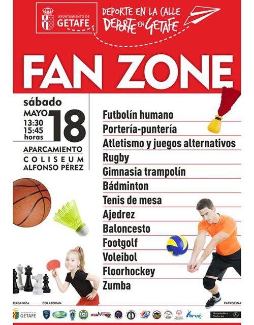 El próximo sábado se celebra una nueva jornada de 'Deporte Familiar en la Calle' con la 'Fan-Zone'