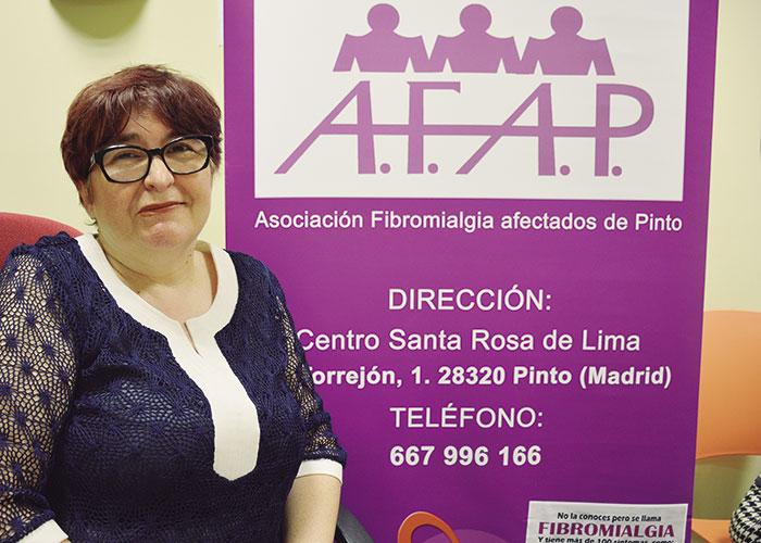 Aurora Muñoz, Presidenta de AFAP, Asociación de Fibromialgia Afectados de Pinto