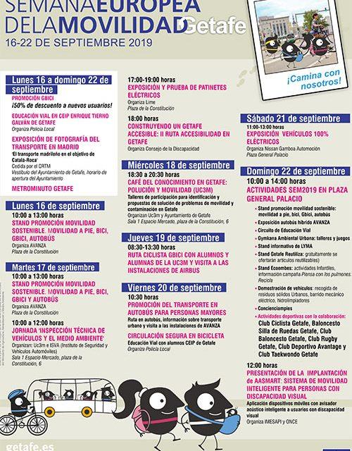 Getafe celebra la Semana Europea de la Movilidad con el lema ¡Camina con nosotros!