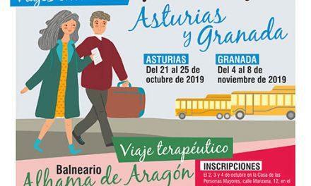 Nuevos viajes culturales y terapéuticos para los mayores de Getafe