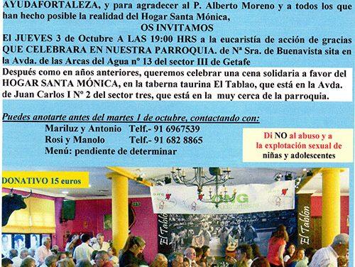 Cena solidaria y décimo aniversario de la ONG Ayudafortaleza