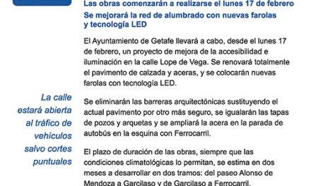 El próximo lunes comienzan las obras para mejorar la accesibilidad y la eficiencia energética de la calle Lope de Vega