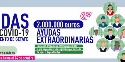 El 14 de octubre concluye el plazo para solicitar las ayudas por COVID-19 de 2.050.000 euros