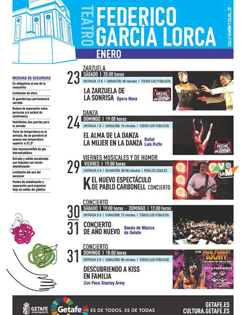 El Teatro Federico García Lorca y el Espacio Mercado acogerán zarzuela, danza y conciertos esta semana