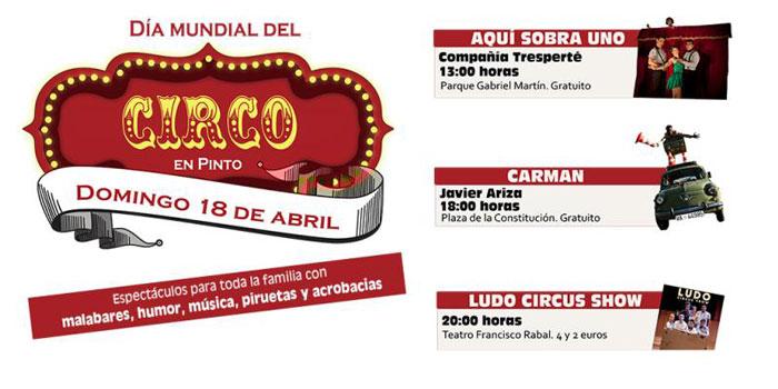 Malabares, humor y acrobacias para celebrar el Día Mundial de Circo en Pinto