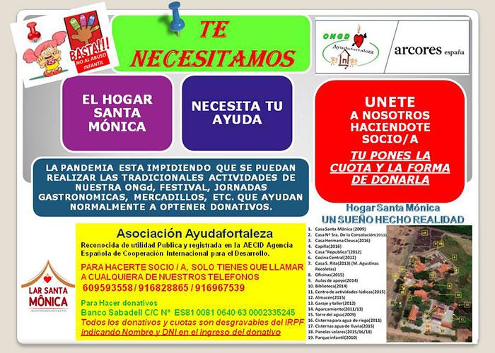 Captación de socios de la ONGD Ayudafortaleza