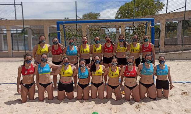 Getasur arranca la temporada de balonmano playa con tres equipos clasificados para la Copa de España